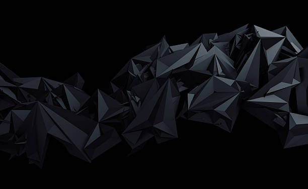 Abstract 3D Rendering of Polygonal Background. - Photo