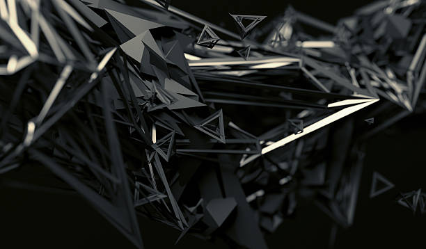 abstract 3d rendering of polygonal shape. - sharp stock photos and pictures