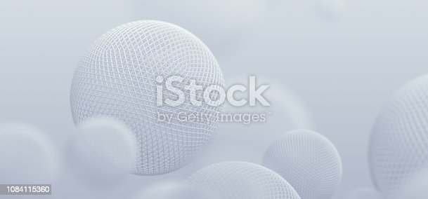 istock Abstract 3D Rendering of Spheres 1084115360