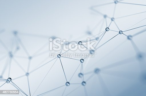istock Abstract 3D Rendering of Structure with Spheres 482730554