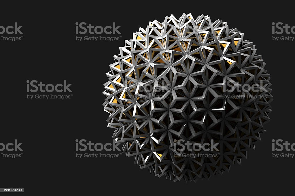 Abstract 3d rendering on black background stock photo