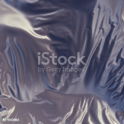 istock Abstract 3d rendering silver cloth background 827940964