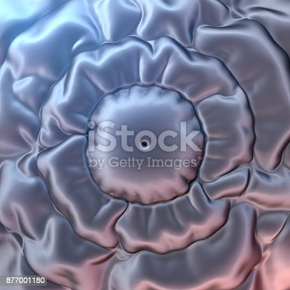 istock Abstract 3d rendering silver cloth background 877001180