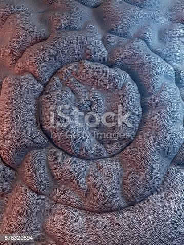 istock Abstract 3d rendering smooth cloth background 878320894