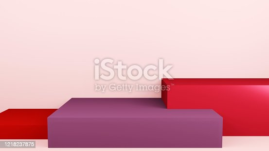1128982640 istock photo Abstract 3d rendering stage composition, 3d illustration cute background. 1218237875