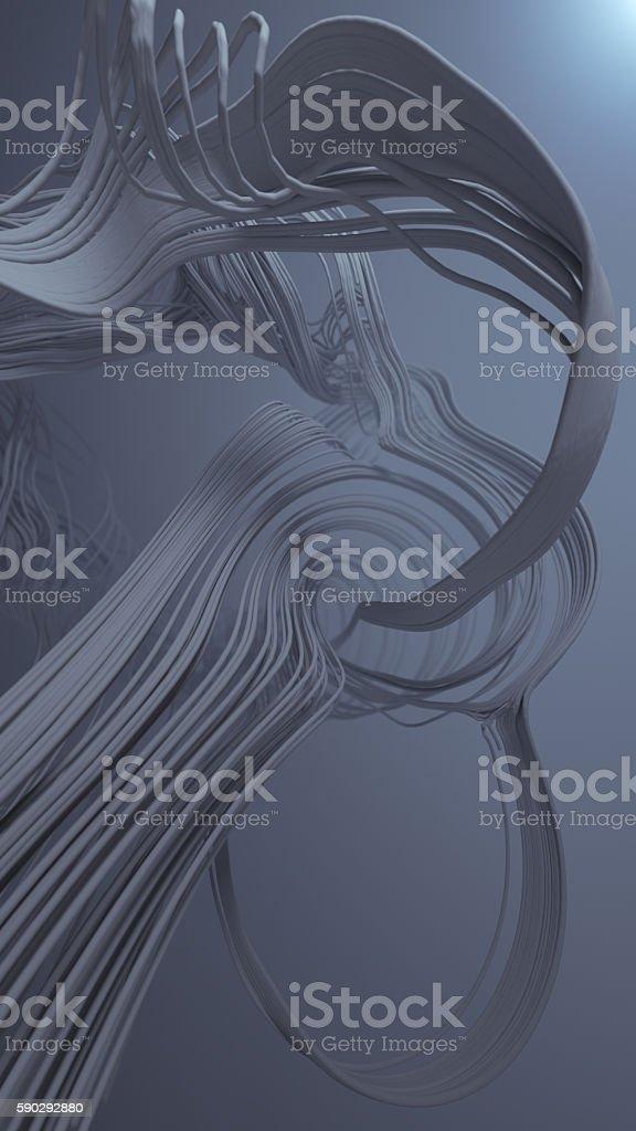 Абстрактные 3d-рендеринга, трассировка маршрута эффект Стоковые фото Стоковая фотография