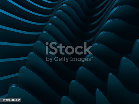 926309126 istock photo Abstract 3D shape background 1258946935