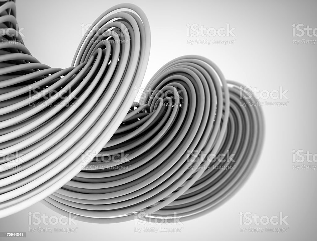 Abstract 3d shape Illustration stock photo