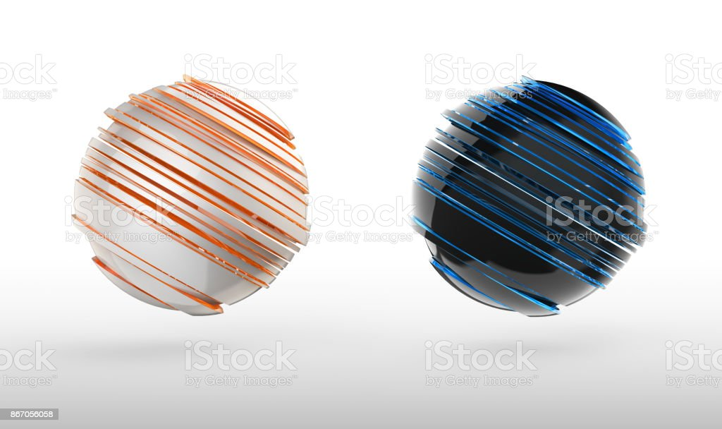 abstract 3d sphere icon stock photo