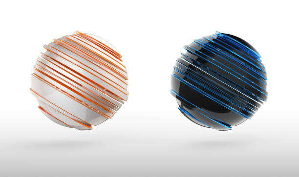 abstract 3d sphere icon - abstract logo stock photos and pictures