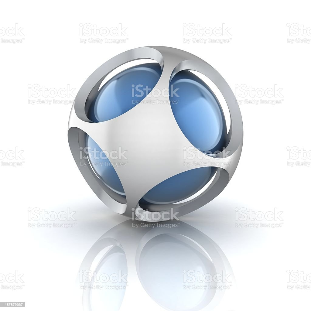 abstract 3d sphere stock photo