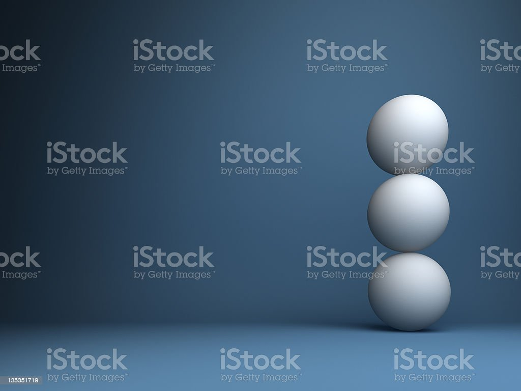 abstract 3d spheres design background royalty-free stock photo