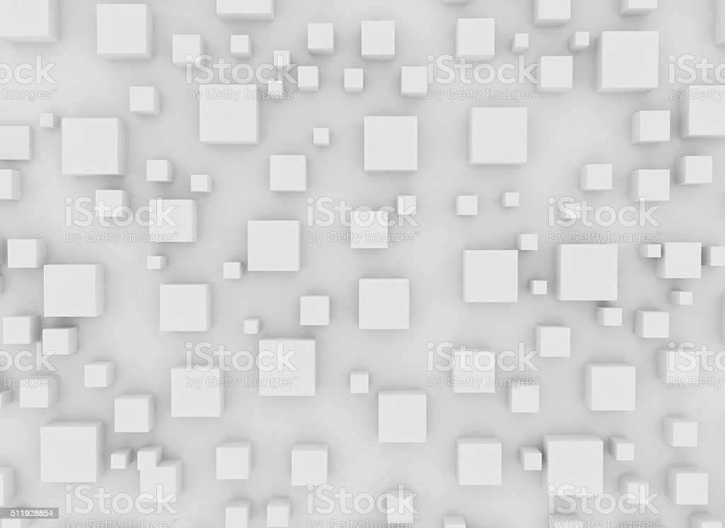 Abstract 3d squares stock photo