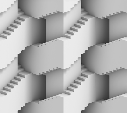 Abstract 3d stairs maze  illustration