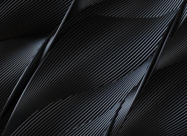 abstract 3d wavy lines - background lines imagens e fotografias de stock