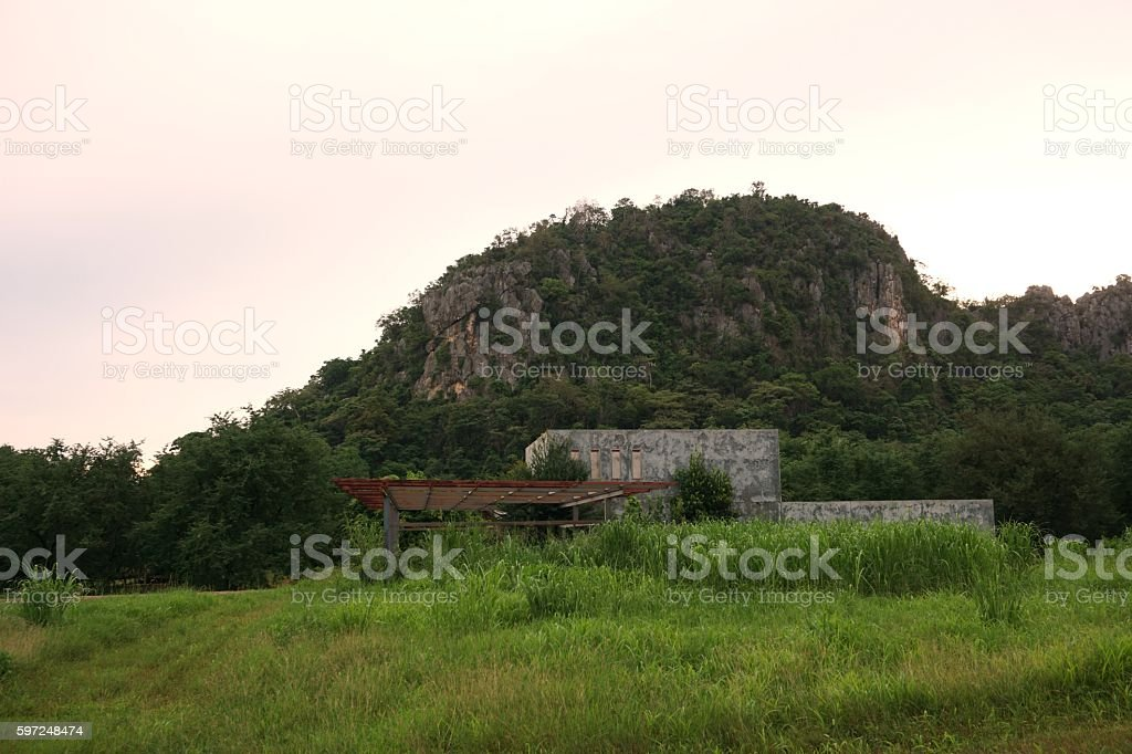 abstract abandoned building stock photo