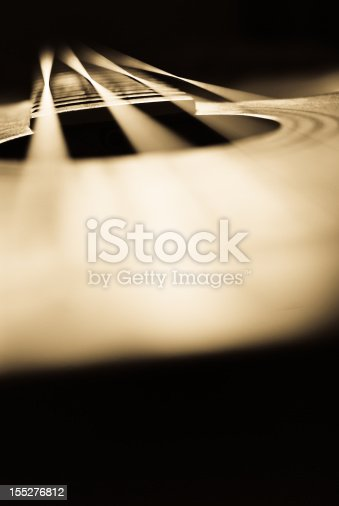 Abstract acoustic bass guitar background