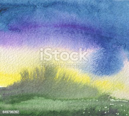 istock Abstract acrylic and watercolor blot painted background. Texture paper. 649796262