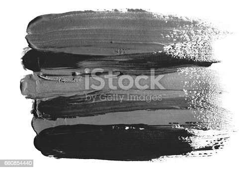 istock Abstract acrylic and watercolor brush stroke painted background. Isolated. 660854440