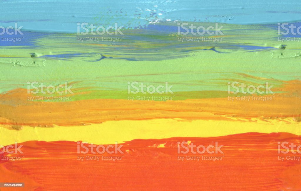 Abstract acrylic and watercolor brush stroke painted background. stock photo