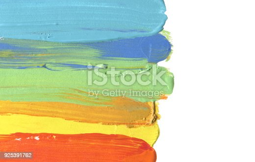 649796262istockphoto Abstract acrylic and watercolor brush stroke painted background. Isolated. Business card template. 925391762
