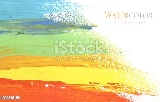 649796262istockphoto Abstract acrylic and watercolor brush stroke painted background. Isolated. Business card template. 925846186
