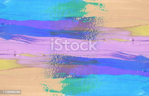 649796262istockphoto Abstract acrylic and watercolor brush stroke painting background. Isolated on white. 1129395250