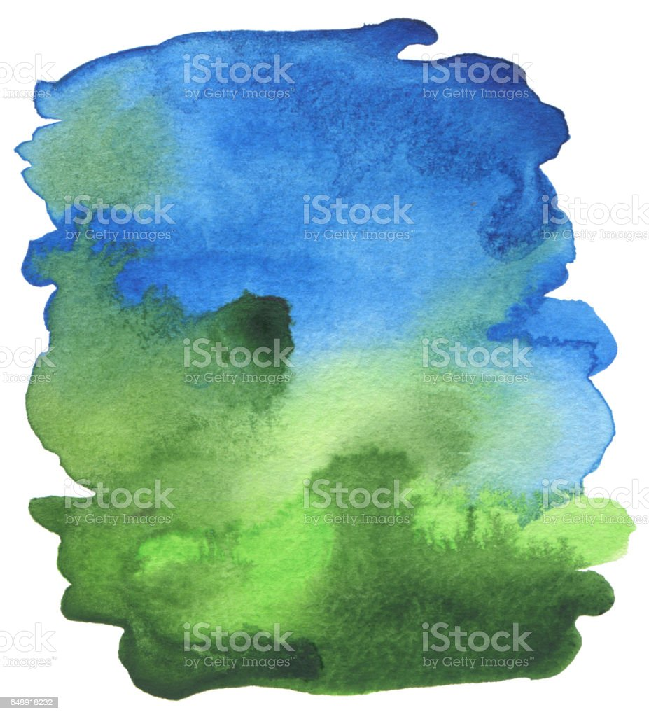 Abstract acrylic and watercolor brush strokes painted background. Texture paper. stock photo