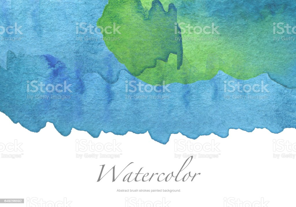 Abstract acrylic and watercolor brush strokes painted background. stock photo