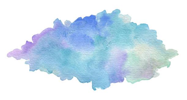 abstrakt acryl und aquarell brush strokes bemalten hintergrund. textur papier. - blumenstreifen stock-fotos und bilder