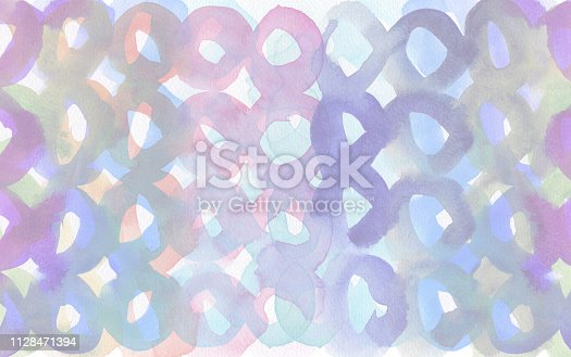 649796262 istock photo Abstract acrylic and watercolor circle painted background. Texture paper. 1128471394