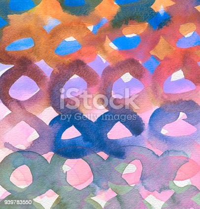 649796262 istock photo Abstract acrylic and watercolor circle painted background. Texture paper. 939783550