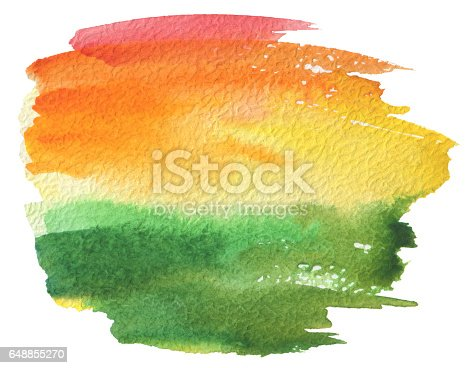 istock Abstract acrylic and watercolor painted frame. 648855270