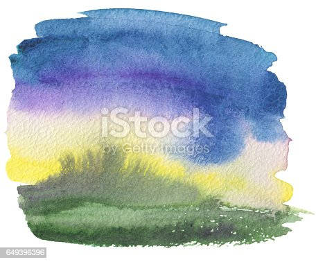649796262 istock photo Abstract acrylic and watercolor painted frame. Texture paper. Isolated. 649396396
