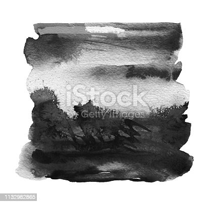 649796262 istock photo Abstract acrylic and watercolor painted frame. Texture paper background. 1132982865