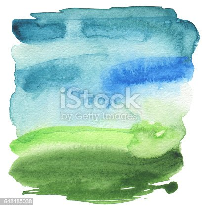 istock Abstract acrylic and watercolor painted frame. Texture paper background. 648485038