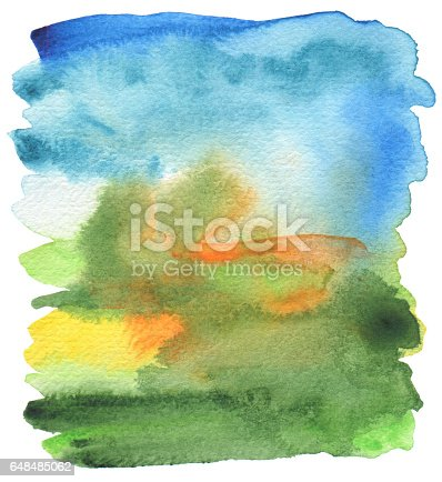 istock Abstract acrylic and watercolor painted frame. Texture paper background. 648485062