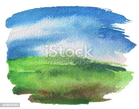 649796262 istock photo Abstract acrylic and watercolor painted frame. Texture paper background. 648845052