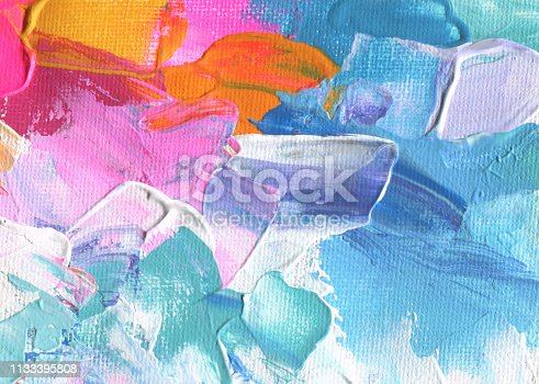 649796262istockphoto Abstract acrylic and watercolor painting. Canvas texture background. 1133395808