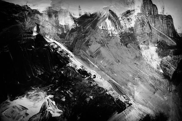 추상 아크릴-흑인과 백인 - abstract art 뉴스 사진 이미지