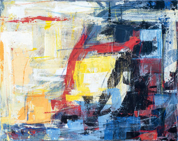 Abstract acrylic canvas painting background - foto stock