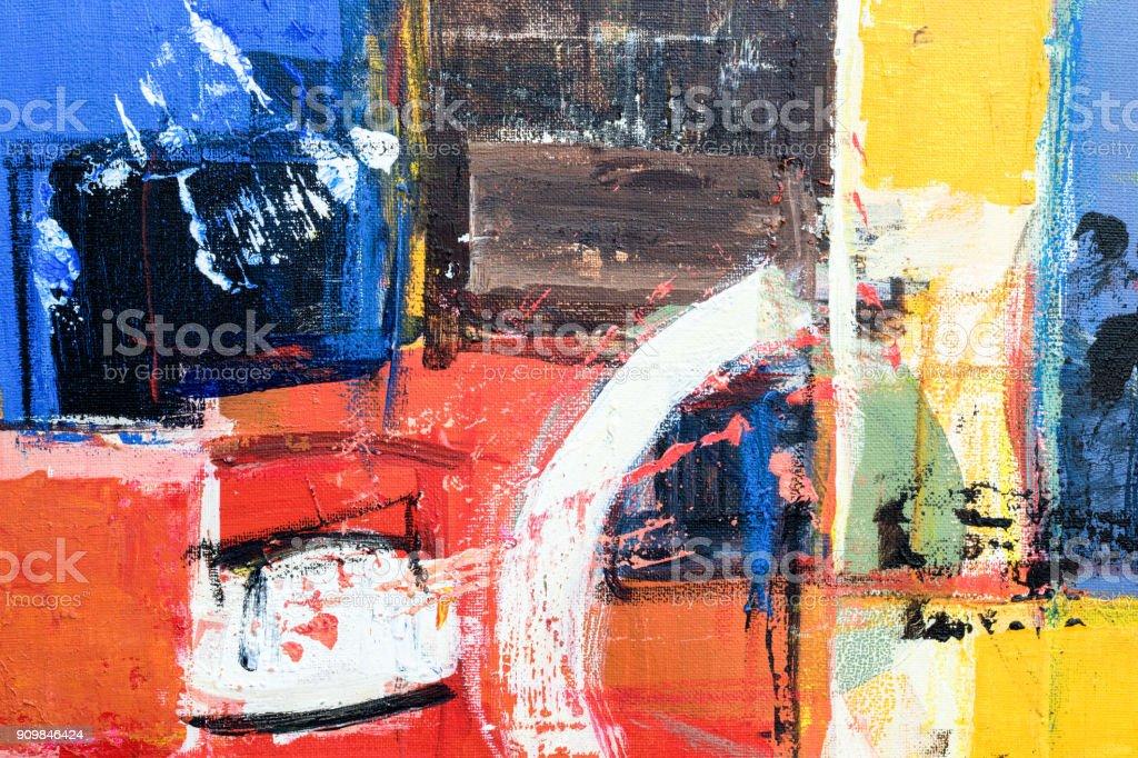 Abstrakt Acryl Leinwand Malerei Hintergrund Stockfoto Und Mehr Bilder Von Abstrakt Istock