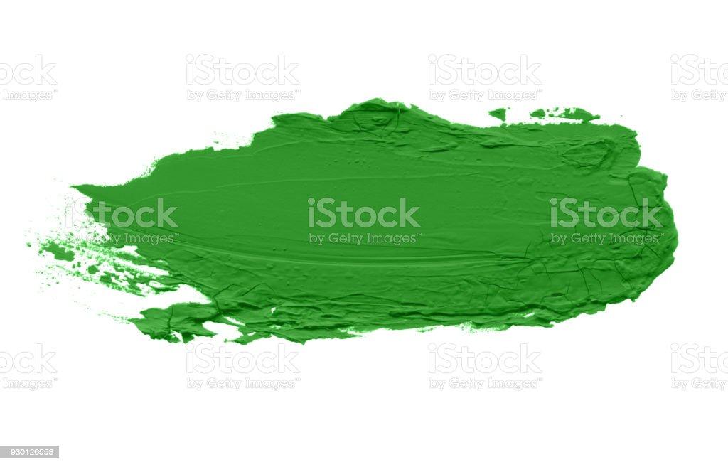 Pincelada de cor acrílica abstrato. Isolado no branco. Modelo de cartão. - foto de acervo