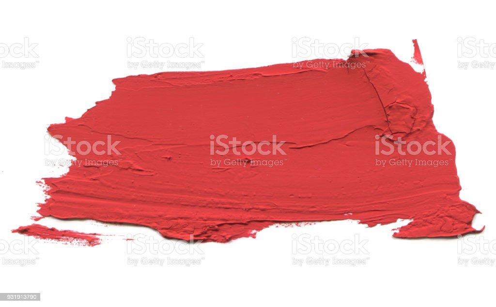 Pincelada de cor acrílica abstrato. Isolado no branco. - foto de acervo