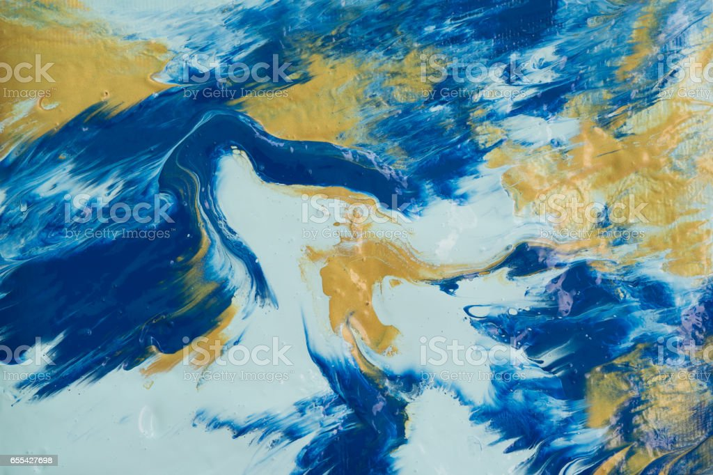 abstract acrylic color painting texture on canvas stock photo