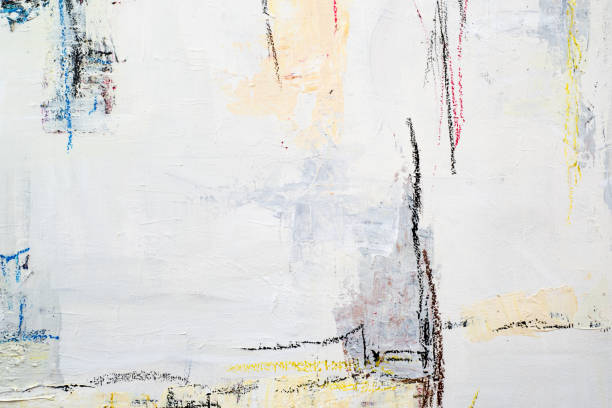 Línea acrílico abstracto pintura fondo - foto de stock