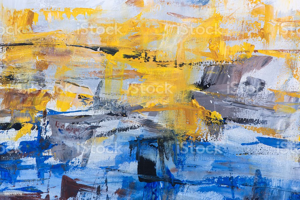 Abstract acrylic on canvas background. - foto de stock