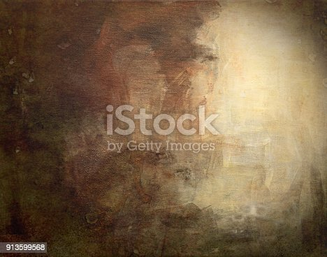 istock Abstract acrylic on canvas background 913599568