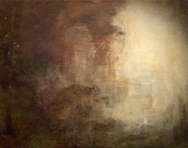 soyut akrilik tuval zemin üzerine - yağlı boya resim stok fotoğraflar ve resimler