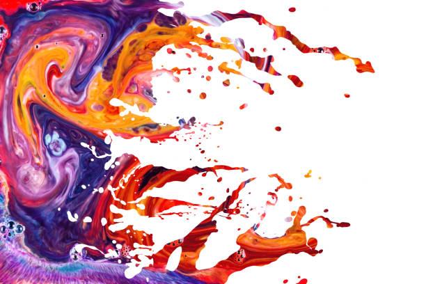 Abstract acrylic paint splash background stock photo
